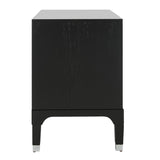 Safavieh Lorna Night Stand 3 Drawer Contemporary Black Wood Veneer MDF FOX6232A 889048299023