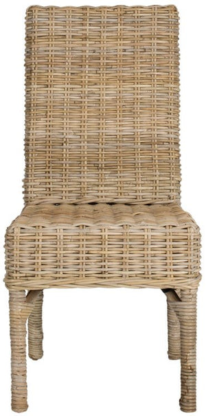 Safavieh - Set of 2 - Beacon Side Chair 18''H Rattan Natural Uned NC Coating Mango FOX6519A-SET2 683726575399