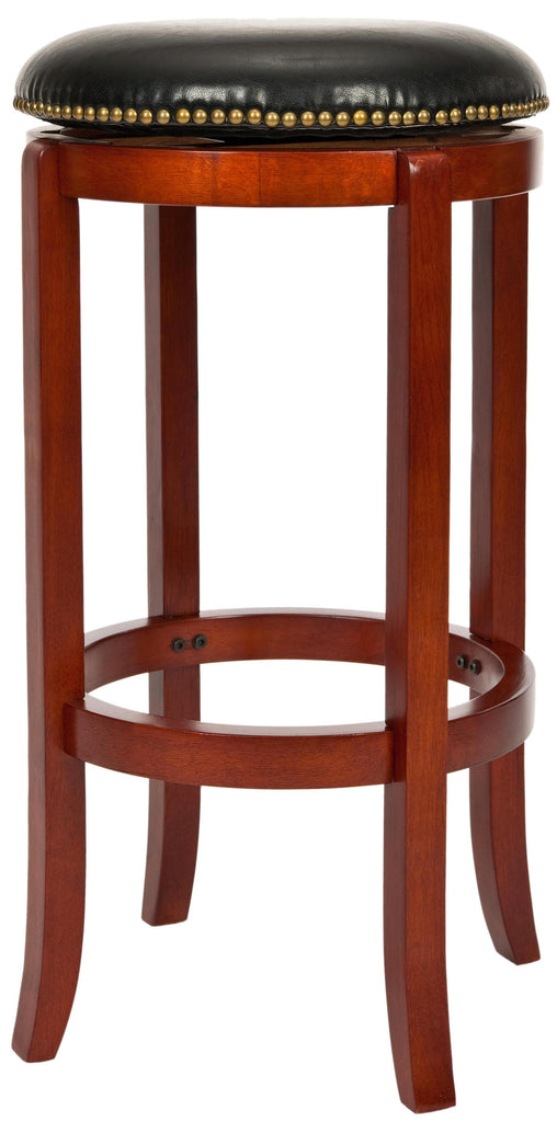 Safavieh Ellwood Counterstool in Cherry and Black FOX7005A 683726980001