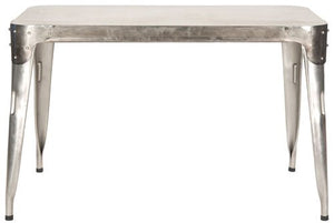 Safavieh Weston Dining Table Iron Dark Antique Silver Metal FOX7204A 683726660965