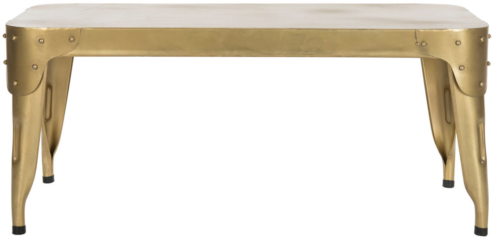 Safavieh Classsic Coffee Table Iron Gold Metal FOX7205B 683726900283