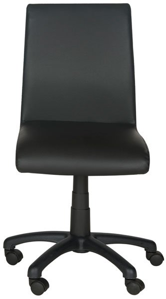 Safavieh Hal Desk Chair Black Metal Foam Iron PVC FOX8501B 683726732853