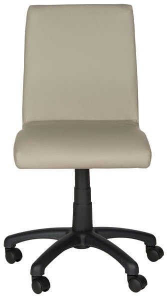 Safavieh Hal Desk Chair Grey Metal Foam Iron PVC FOX8501C 683726732877