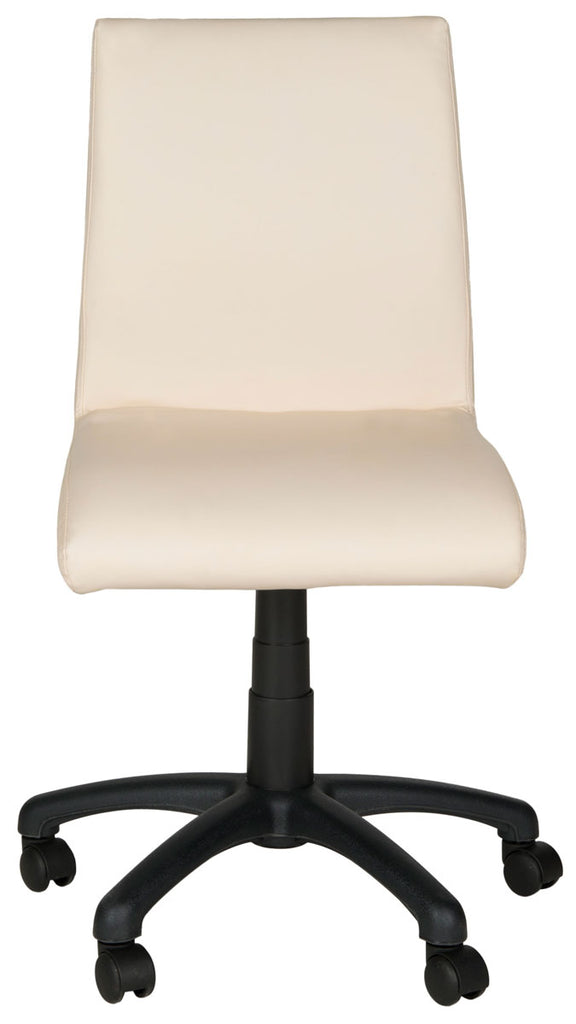 Safavieh Hal Desk Chair White Metal Foam Iron PVC FOX8501D 683726732884