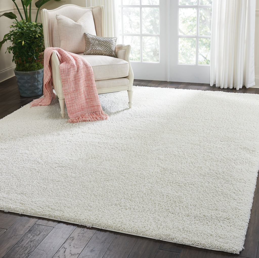 Malibu Shag MSG01 Power-loomed 100% Polypropylene Ivory 6' x 9' Rectangle Rug