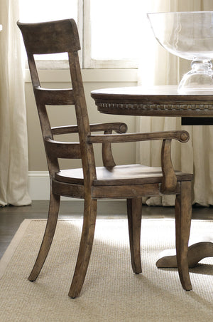 Hooker Furniture - Set of 2 - Sorella Traditional-Formal Ladderback Arm Chair in Hardwood Solids and Hickory Veneers 5107-75300