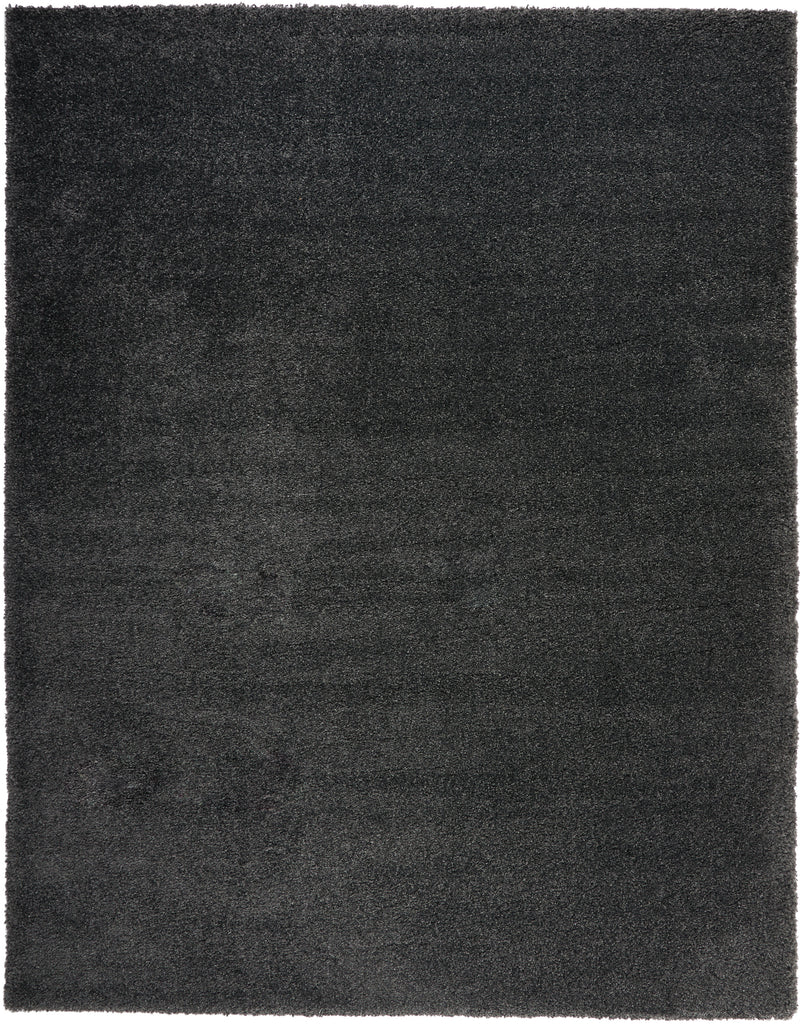 "Malibu Shag MSG01 Power Loomed 100% Polypropylene Dark Grey 9'10"" x 13'2"" Rectangle Rug"