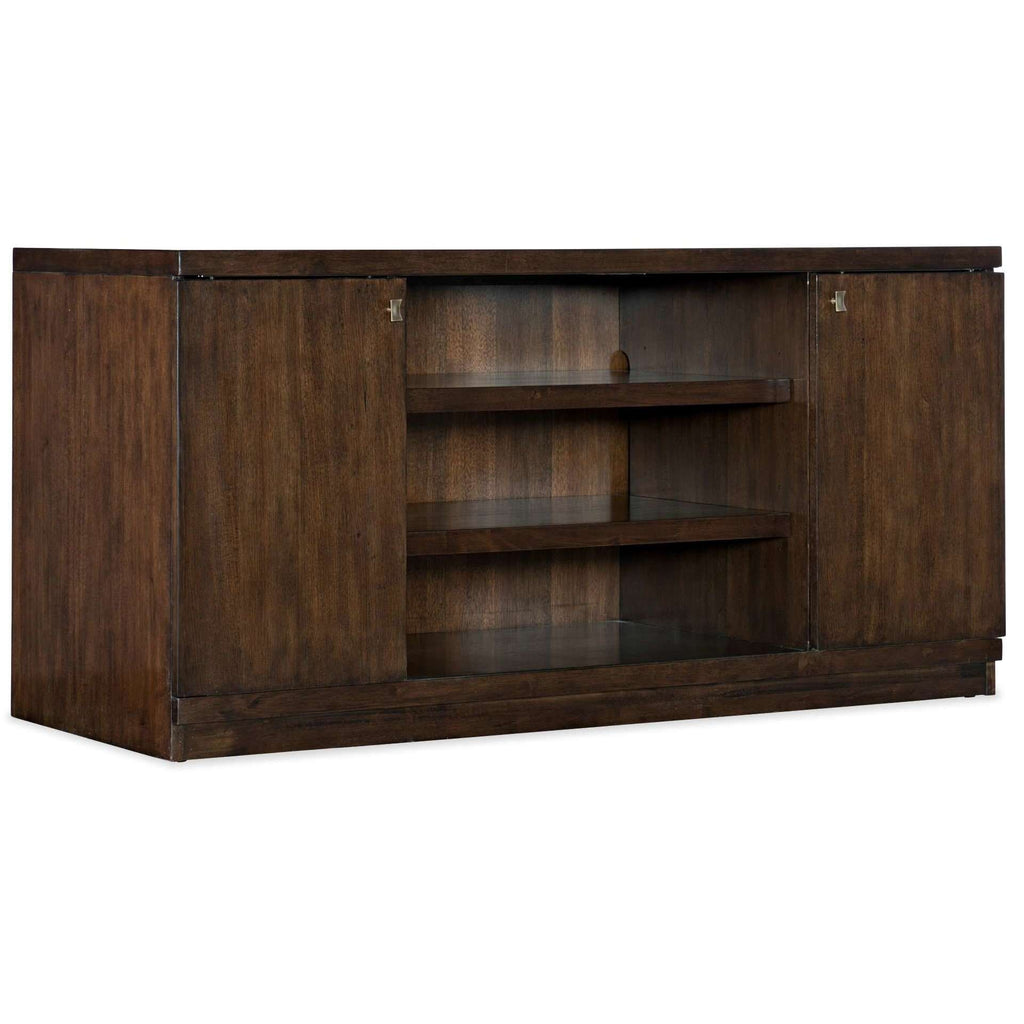 5841-10 Transitional Apprentice Office Console In Rubberwood Solids With Quartered Hickory Veneers