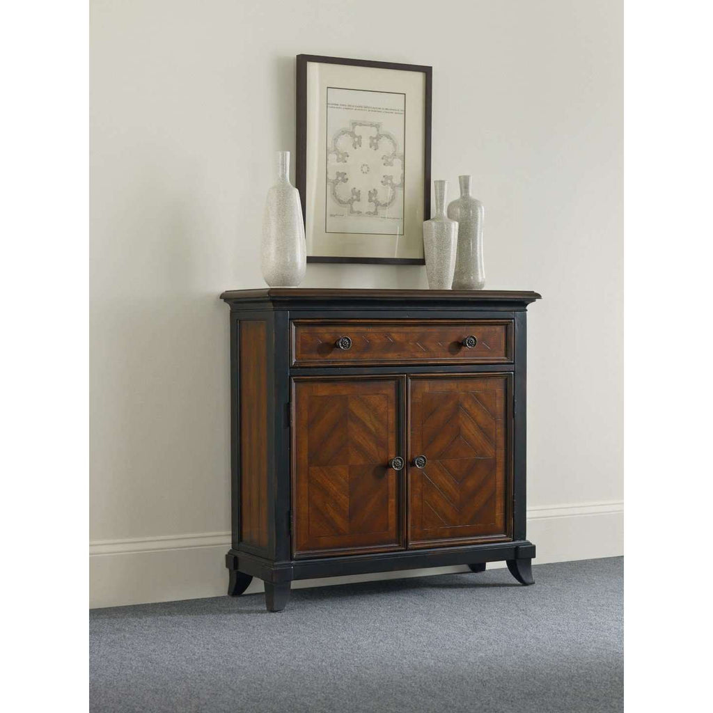 593-50 Transitional Hardwood Solids, Cherry & Walnut Veneers Wingate One-Drawer Two-Door Chest
