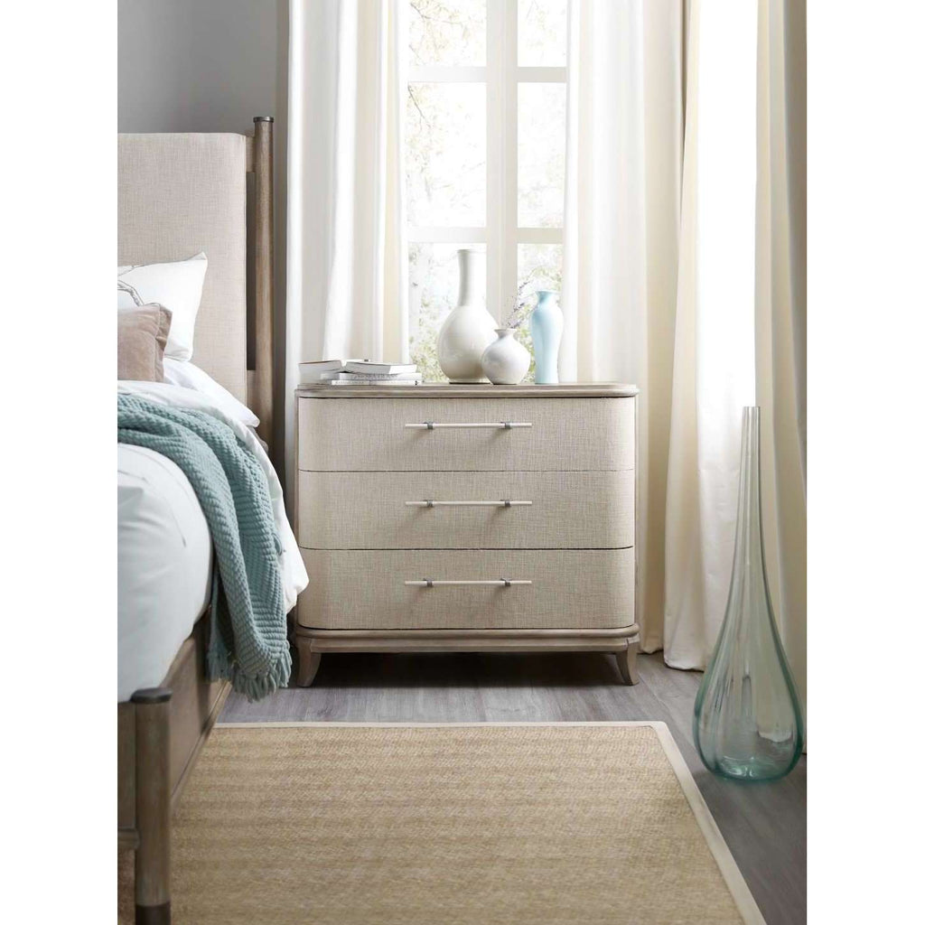 Affinity Transitional Bachelors Chest In Rubberwood Solids And Fabric