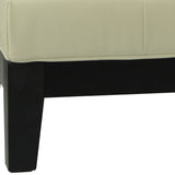 Safavieh Jordan Ottoman Cocktail Black Off White Water Based Paint Beechwood CA Foam Bicast Leather HUD4066C 683726321644