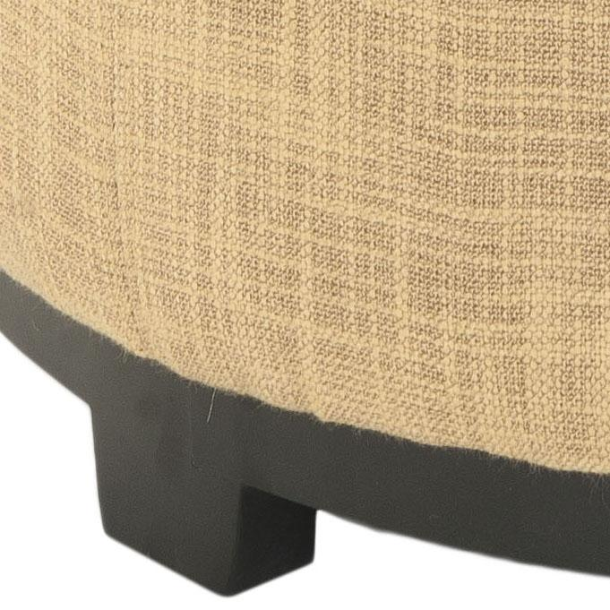Safavieh Chelsea Ottoman Round Tray Gold Black Wood Birch Viscose Polyester HUD8232E 683726404392