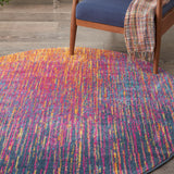 "Passion PSN09 Power Loomed 100% Polypropylene Multicolor 5'3"" x Round Round Rug"