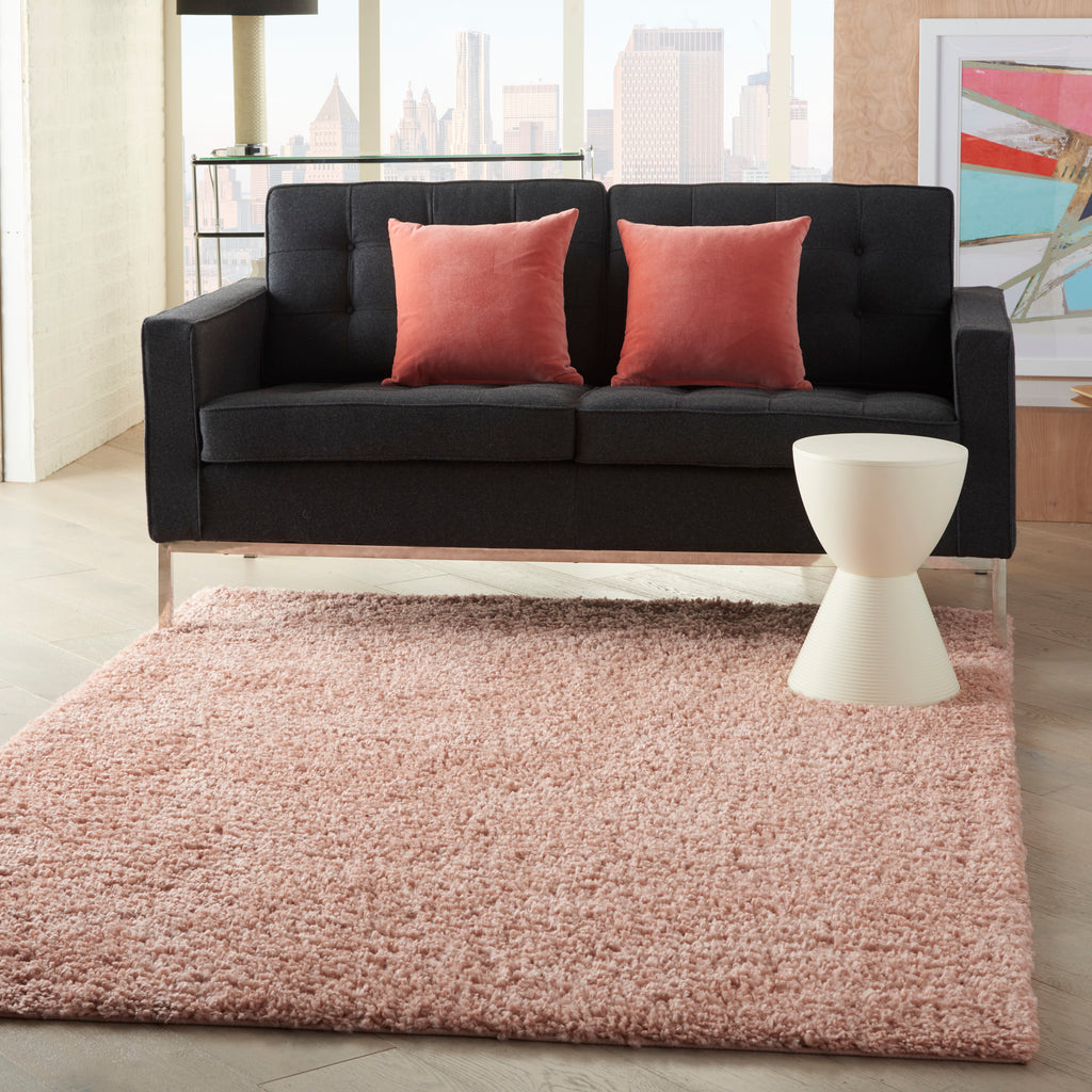 "Malibu Shag MSG01 Power-loomed 100% Polypropylene Blush 3'11"" x 5'11"" Rectangle Rug"
