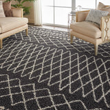 "Moroccan Shag MRS02 Power Loomed 100% Polypropylene Charcoal 7'10"" x 10'6"" Rectangle Rug"