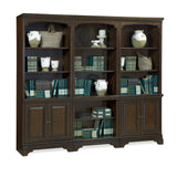 Essex Traditional Molasses Brown White - White Oak Veneer Door Bookcase