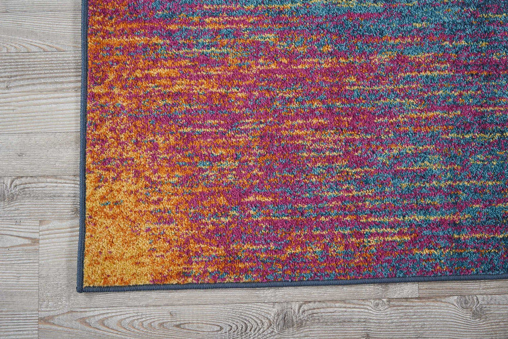 "Passion PSN09 Power Loomed 100% Polypropylene Multicolor 1'10"" x 6' Runner Rug"