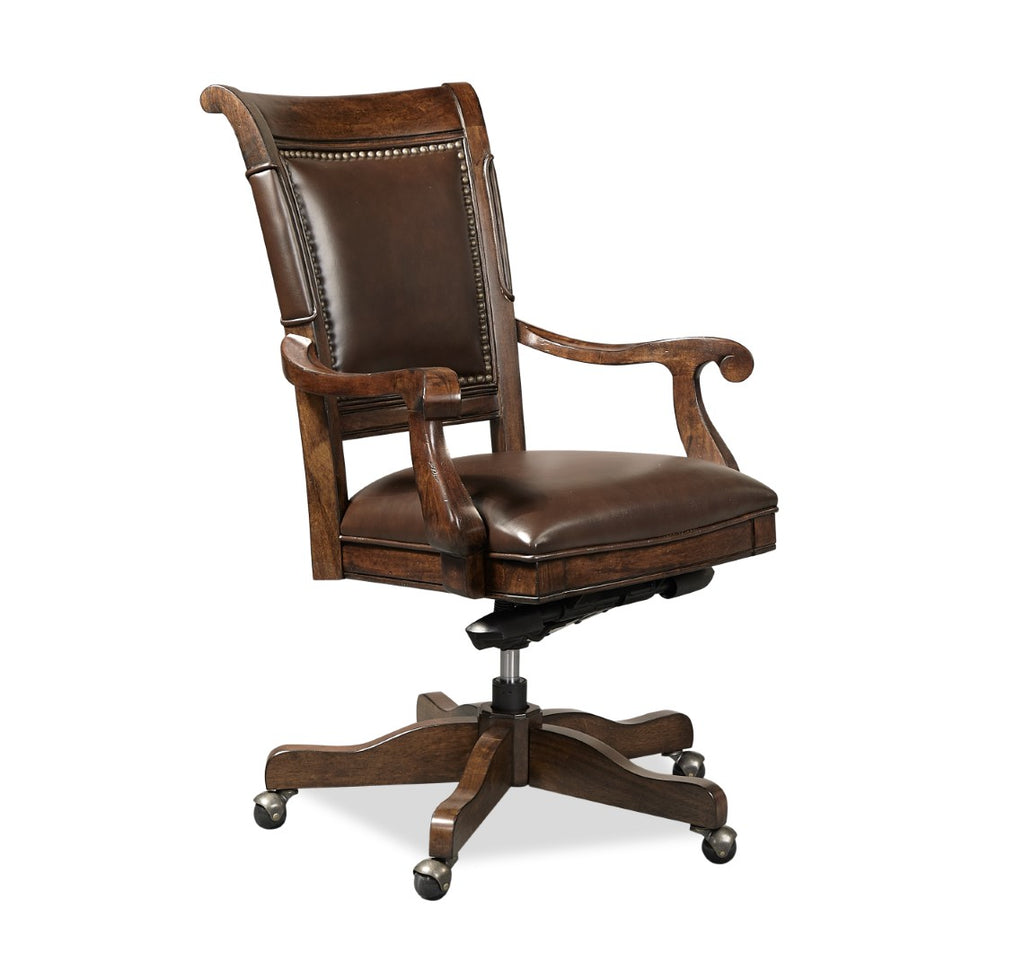 Grand Classic Traditional Tobacco Select Hardwoods - Acacia and Walnut Veneer Office Chair