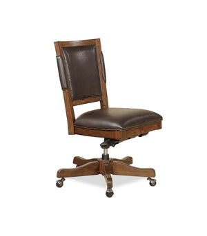 Canfield Industrial Cognac Rubberwood Solids - Acadia Veneer Office Chair