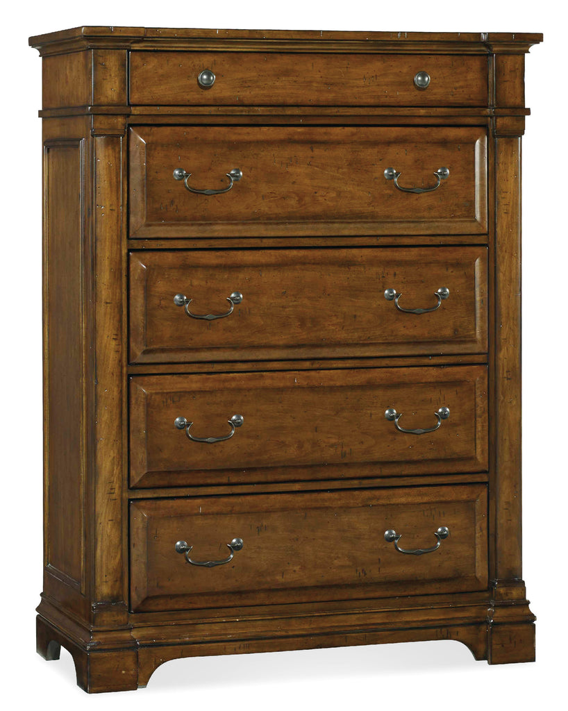 Hooker Furniture Tynecastle Traditional-Formal Chest in Poplar Solids and Figured Alder Veneers 5323-90010