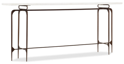 5633 Transitional Skinny Metal Console in Iron