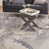 Maxell MAE08 Power-loomed 100% Polyester Grey 7' x 10' Rectangle Rug