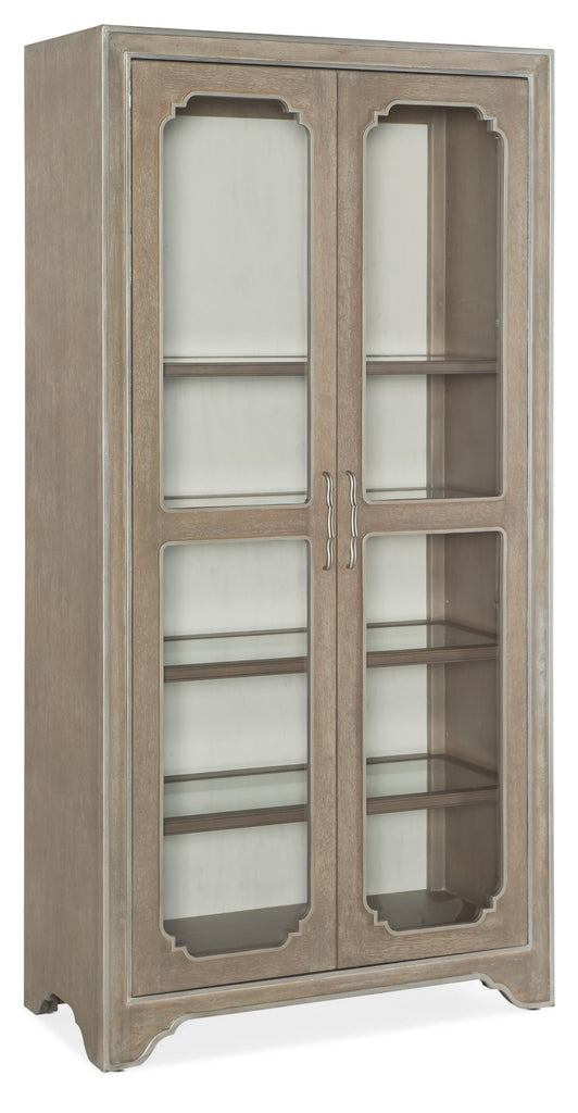 Hooker Furniture Modern Romance Traditional-Formal Display Cabinet in Poplar, Hardwood and Rubberwood Solids with Oak Veneer and Glass 1652-75906-MWD