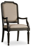 Hooker Furniture - Set of 2 - Corsica Traditional-Formal Uph Arm Chair in Acacia Solids and Veneers 5280-75401