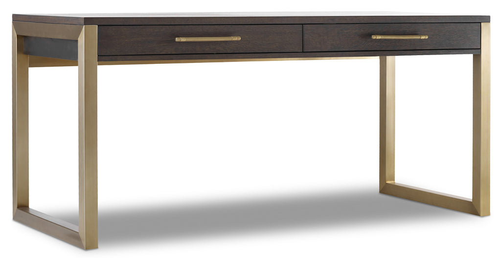 Hooker Furniture Curata Modern-Contemporary Short Left/Right/Freestanding Desk in Rubberwood Solids with White Oak Veneers and Metal 1600-10468-DKW