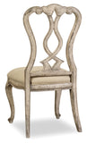 Hooker Furniture - Set of 2 - Chatelet Traditional-Formal Splatback Side Chair in Rubberwood Solids and Fabric 5350-75410