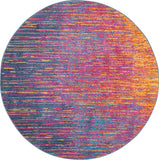 Passion PSN09 Power Loomed 100% Polypropylene Multicolor 4' x Round Round Rug