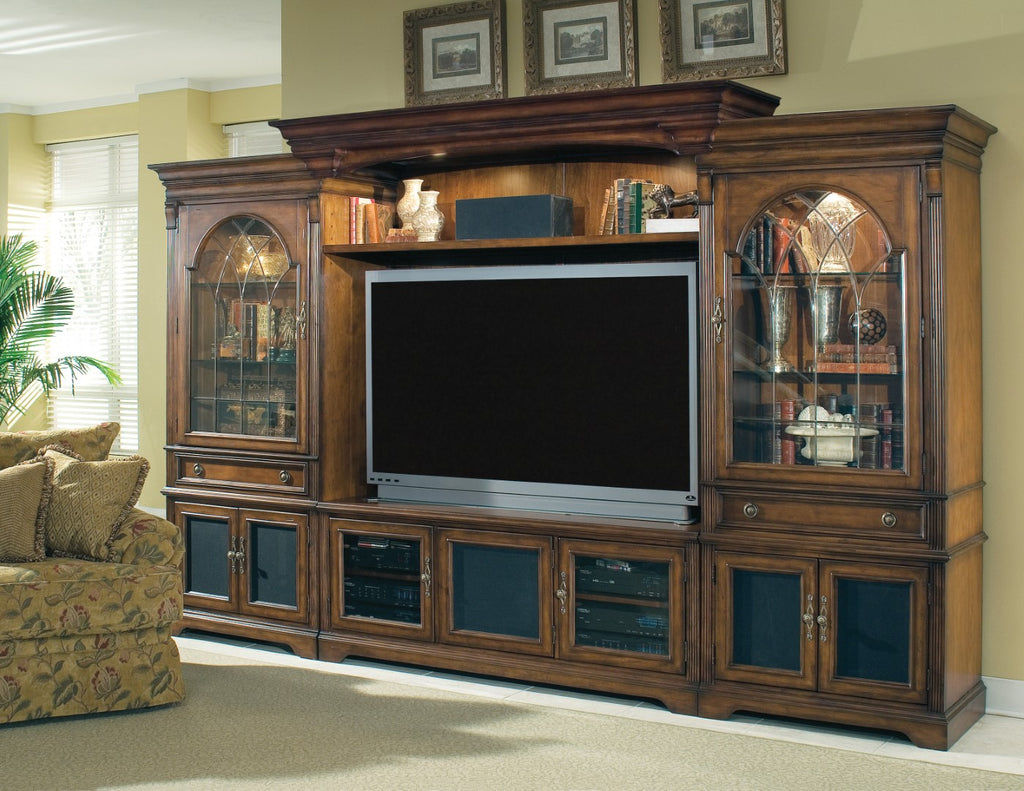 Hooker Furniture Brookhaven Traditional-Formal Home Theater Group in Hardwood Solids with Cherry Veneers 281-70-222