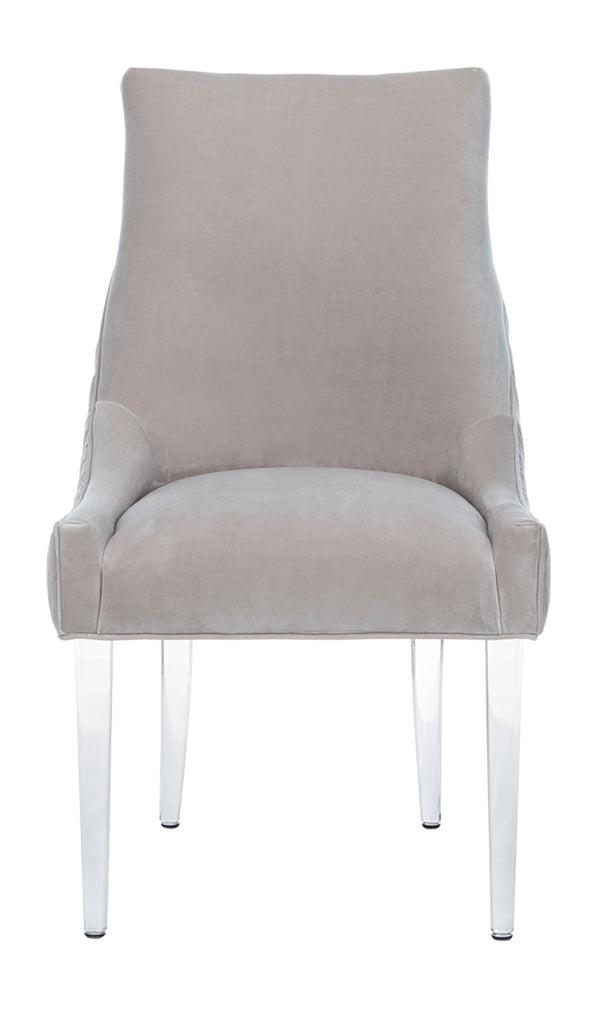 Safavieh De Luca Acrylic Leg Dining Chair in Pale Taupe Couture KNT4106B