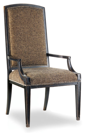Hooker Furniture - Set of 2 - Sanctuary Casual Mirage Arm Chair in Hardwood Solids, Fabric, Nail heads 3005-75400