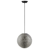 Walker Edison Modern Globe Hanging Pendant Light - Nickel in Metal, Textile LIP16GLONI 842158128027
