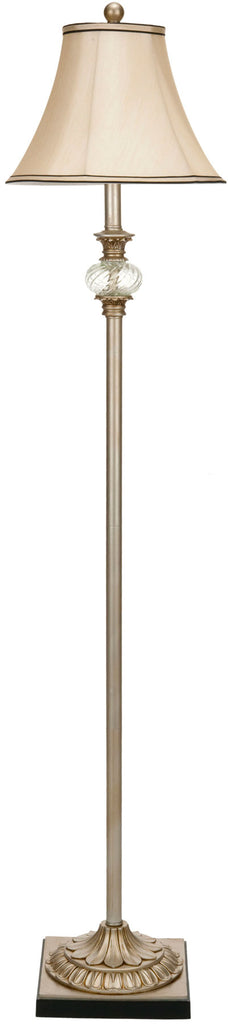 "Safavieh Evelyn Floor Lamp Ball Crystal 61"" Silver Cream Polyester Glass Metal Resin LIT4007A 683726747628"