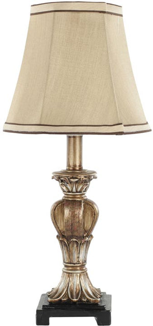 "Safavieh - Set of 2 - Gabriella Lamp Mini Urn 17"" Gold Beige Polyester Resin LIT4032A-SET2 683726661535"