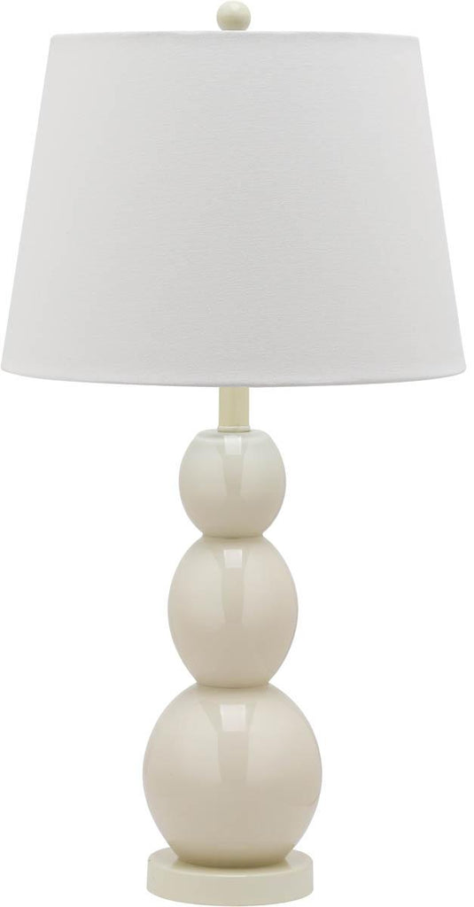 "Safavieh - Set of 2 - Jayne Lamp Three Sphere Glass 26.5"" Light Grey Off White Silver Cotton LIT4089F-SET2 683726409526"