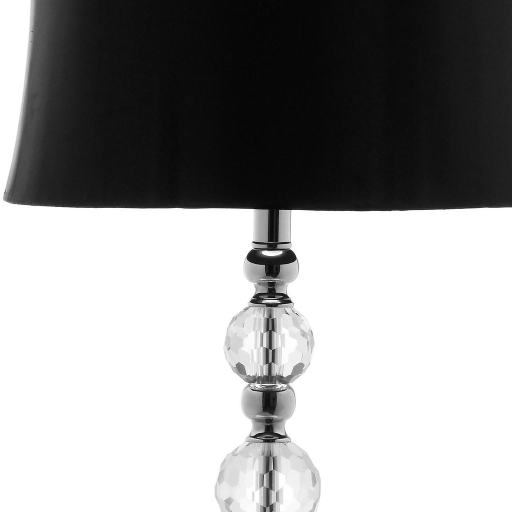 "Safavieh - Set of 2 - Maeve Lamp Ball Crystal 28"" Clear Black Chrome Silver Polyester LIT4114A-SET2 683726678182"
