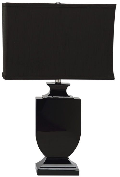 "Safavieh Darcy Lamp Crystal Urn 23.5"" Black Chrome Silver Cotton Polyester LIT4121A 683726678441"