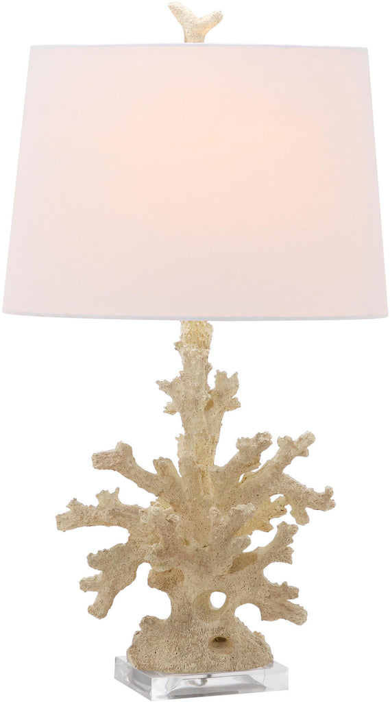 "Safavieh - Set of 2 - Table Lamp Coral Branch 28.5"" Cream Off White Silver Cotton Resin LIT4161A-SET2 683726718123"