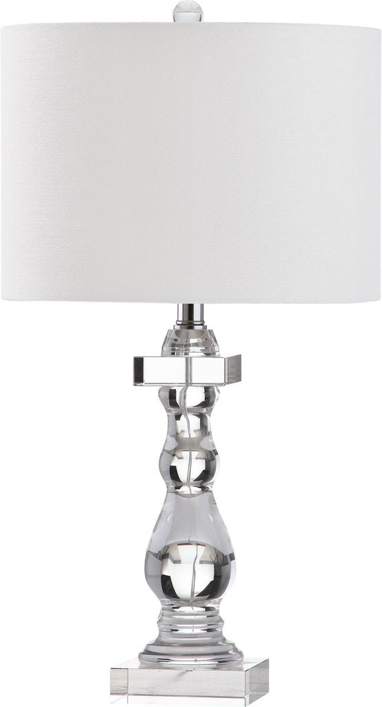 "Safavieh Delta Table Lamp 26.5"" Clear Off White Silver Cotton Crystal LIT4282A 683726404187"