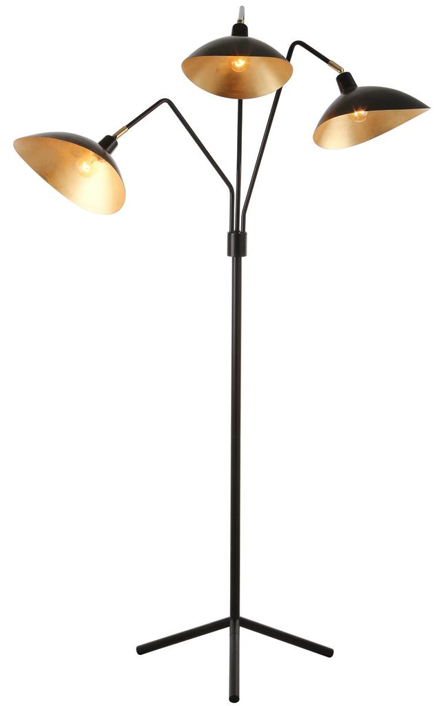 "Safavieh Iris Floor Lamp 69.5"" Black Gold Metal LIT4361B 889048099579"