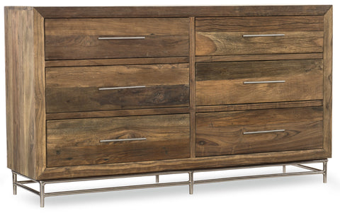 Hooker Furniture L'Usine Casual Dresser in Reclaimed Wood and Metal 5950-90002-MWD