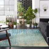 "Passion PSN09 Power Loomed 100% Polypropylene Navy/Light Blue 3'9"" x 5'9"" Rectangle Rug"