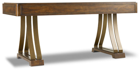 Hooker Furniture BigSur Casual Big Sur Writing Desk in Rubberwood Solids with Walnut Veneers and Metal 5453-10459-MWD
