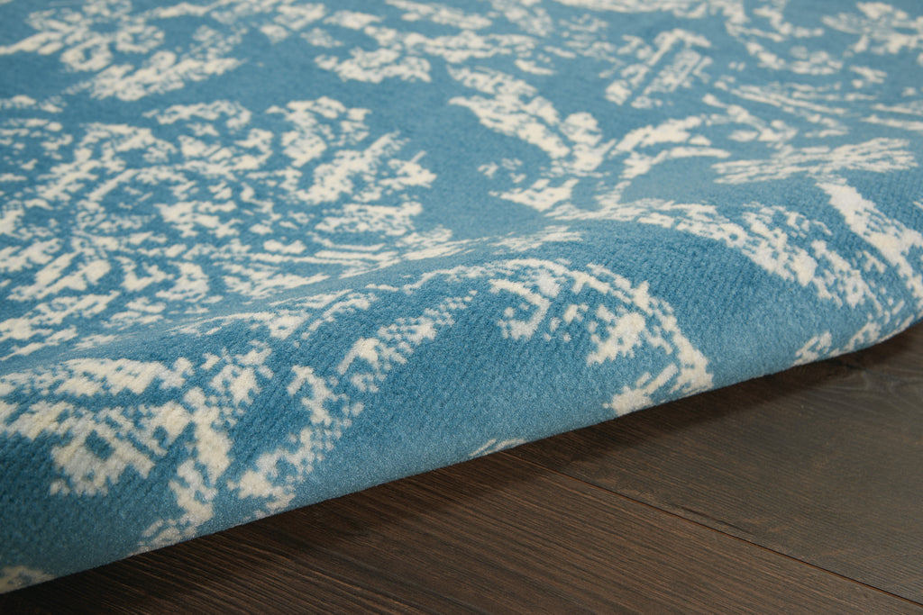 "Jubilant JUB09 Power Loomed 100% Polypropylene Blue 5'3"" x 7'3"" Rectangle Rug"