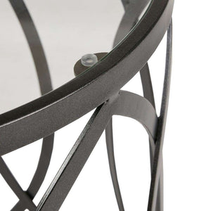Arlo Metal Eyelet Accent Table
