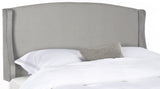 Safavieh Austin Headboard Queen Winged Pewter and Silver Fabric Wood Metal Plywood Polyester Foam Iron Stainless Steel MCR4002G-Q 889048159365