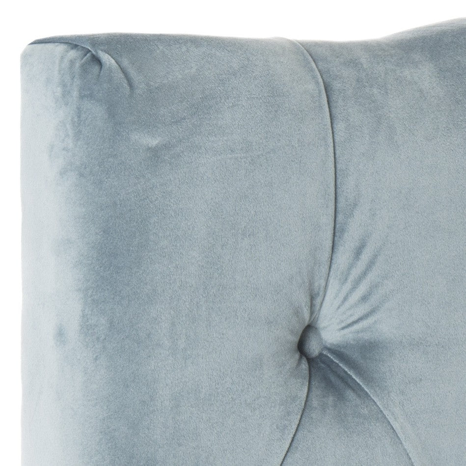 Safavieh Axel Headboard Twin Tufted Wedgwood Blue Metal with Buttons Plywood Cotton Foam Iron MCR4028A 683726672128